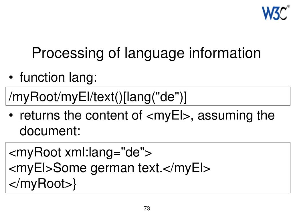 Processing of language information
