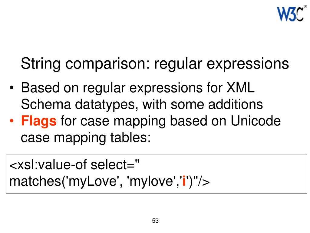 String comparison: regular expressions