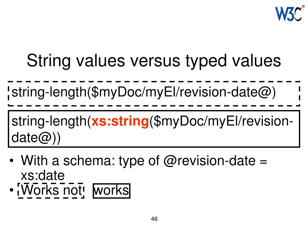 String values versus typed values