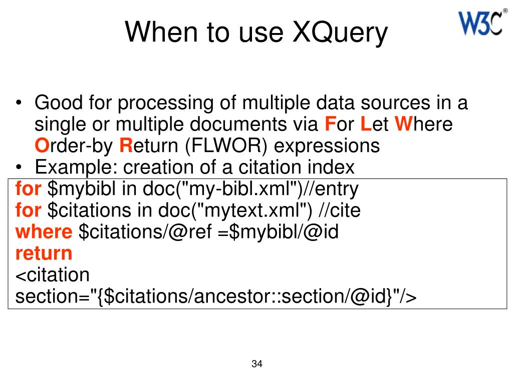 When to use XQuery