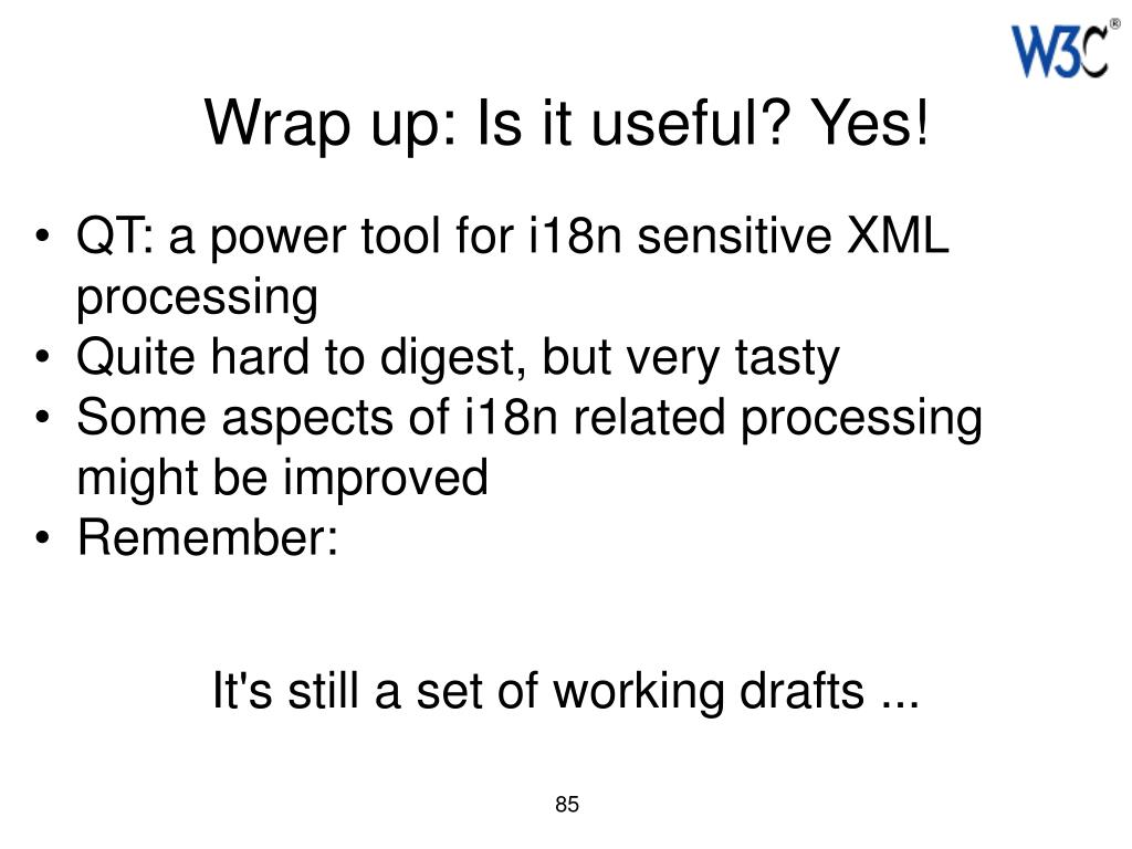 Wrap up: Is it useful? Yes!