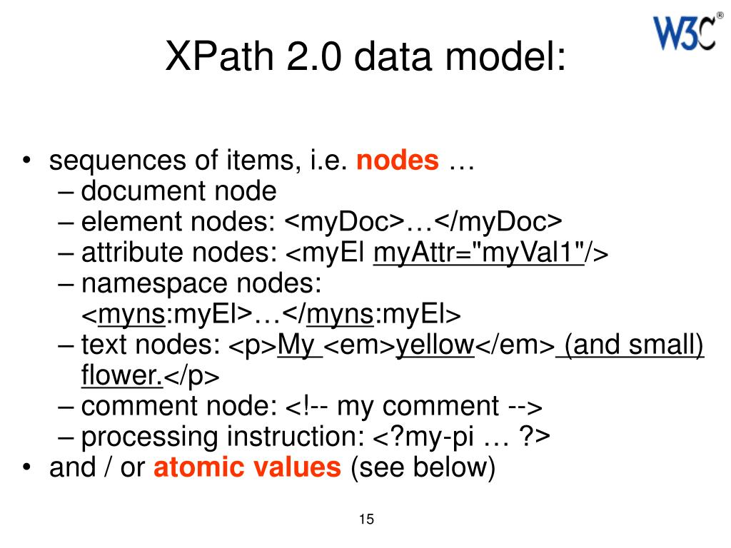 XPath 2.0 data model: