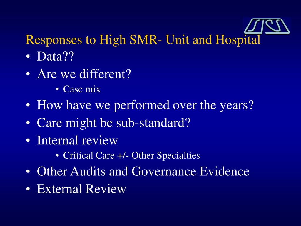 Responses to High SMR- Unit and Hospital