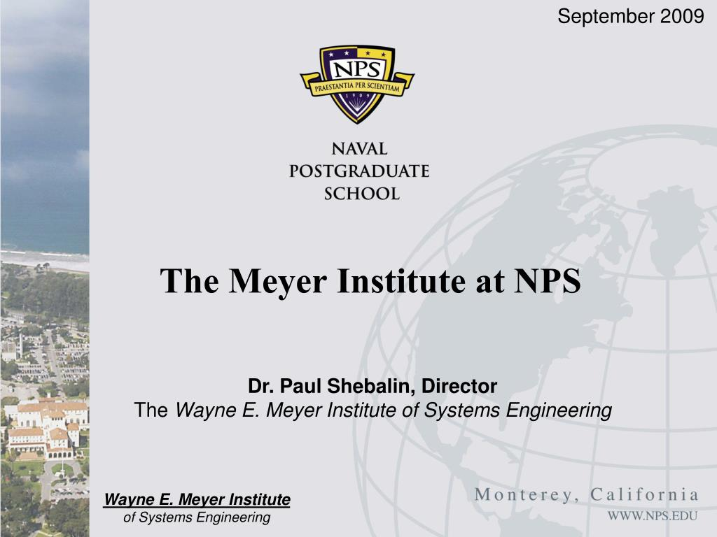 the meyer institute at nps l.