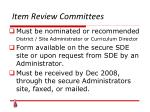 item review committees28