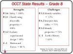 occt state results grade 8