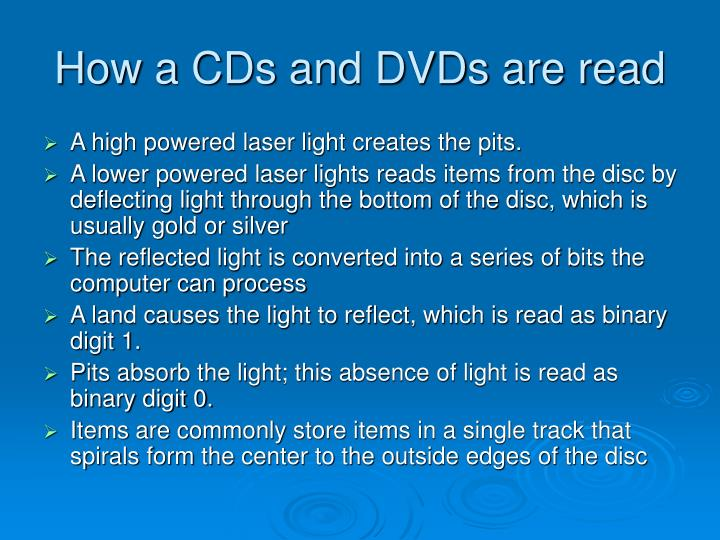 How a cds and dvds are read
