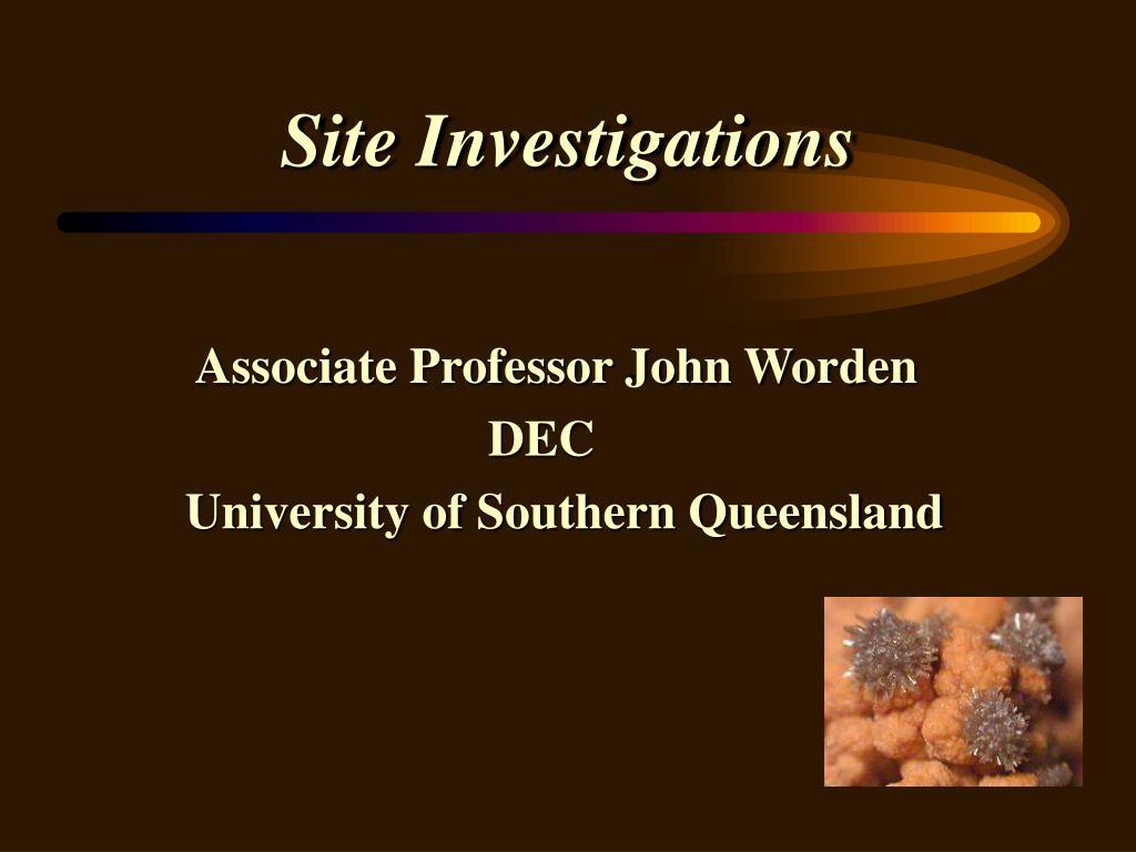 site investigations l.
