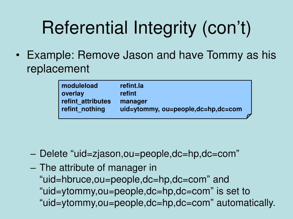 Referential Integrity (con