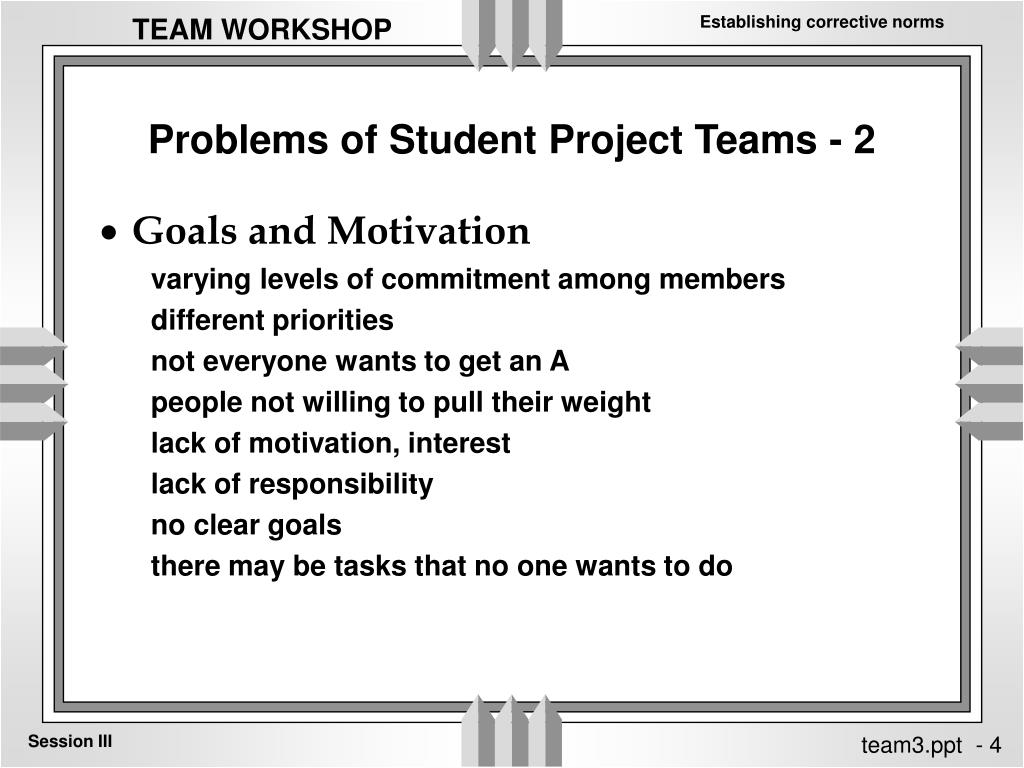 Problems of Student Project Teams - 2