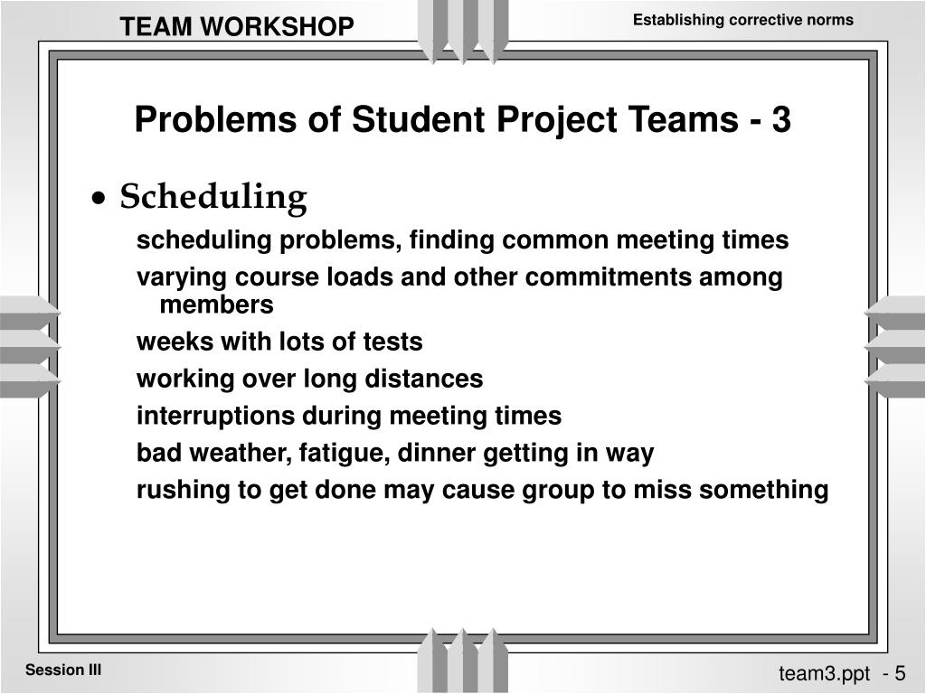 Problems of Student Project Teams - 3