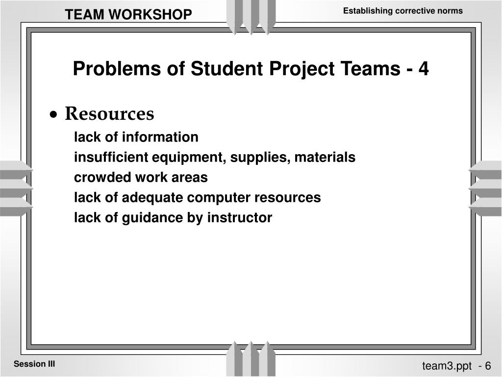 Problems of Student Project Teams - 4