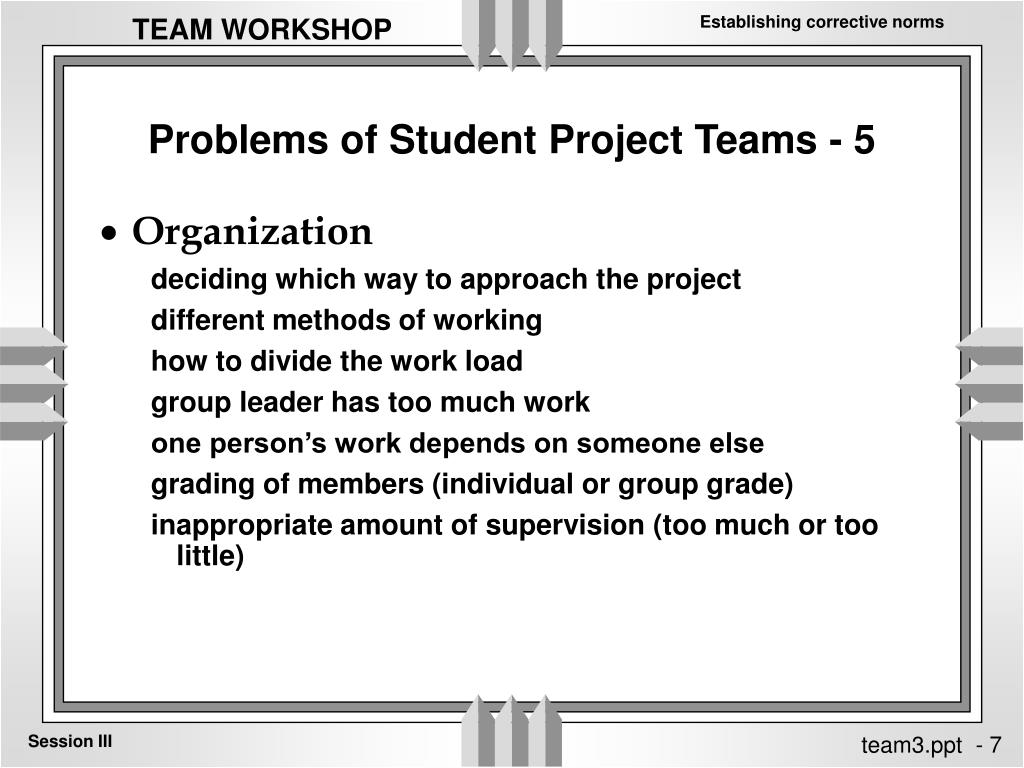 Problems of Student Project Teams - 5