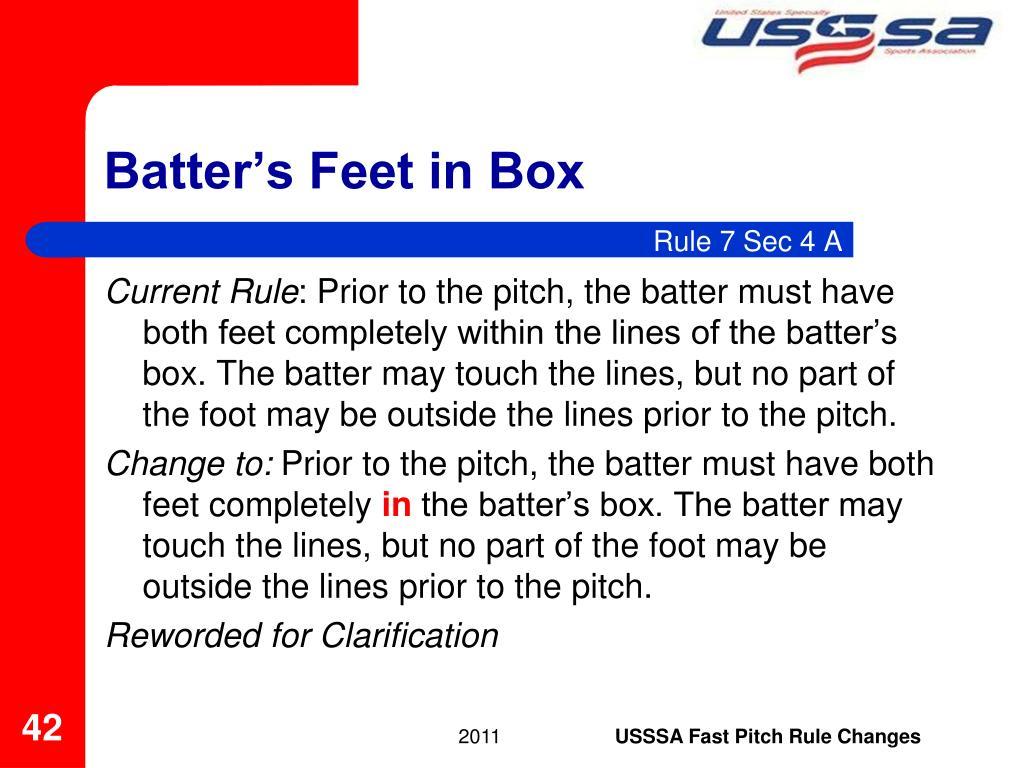 Batter's Feet in Box