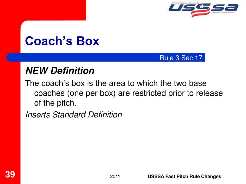 Coach's Box