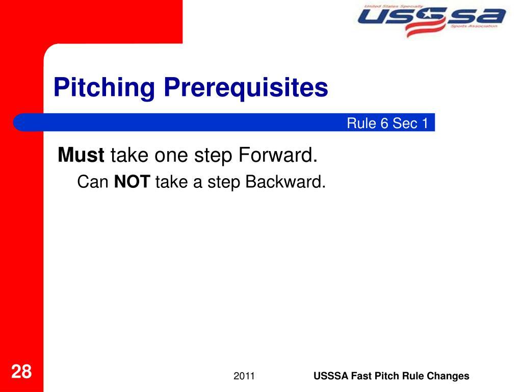 Pitching Prerequisites