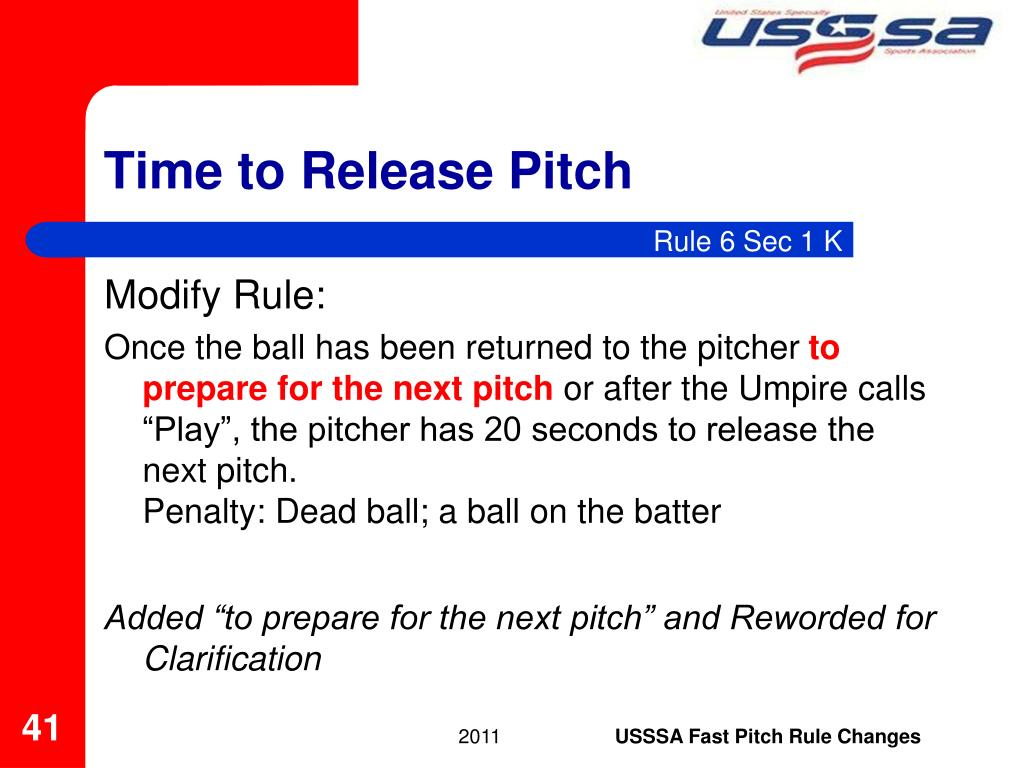 Time to Release Pitch