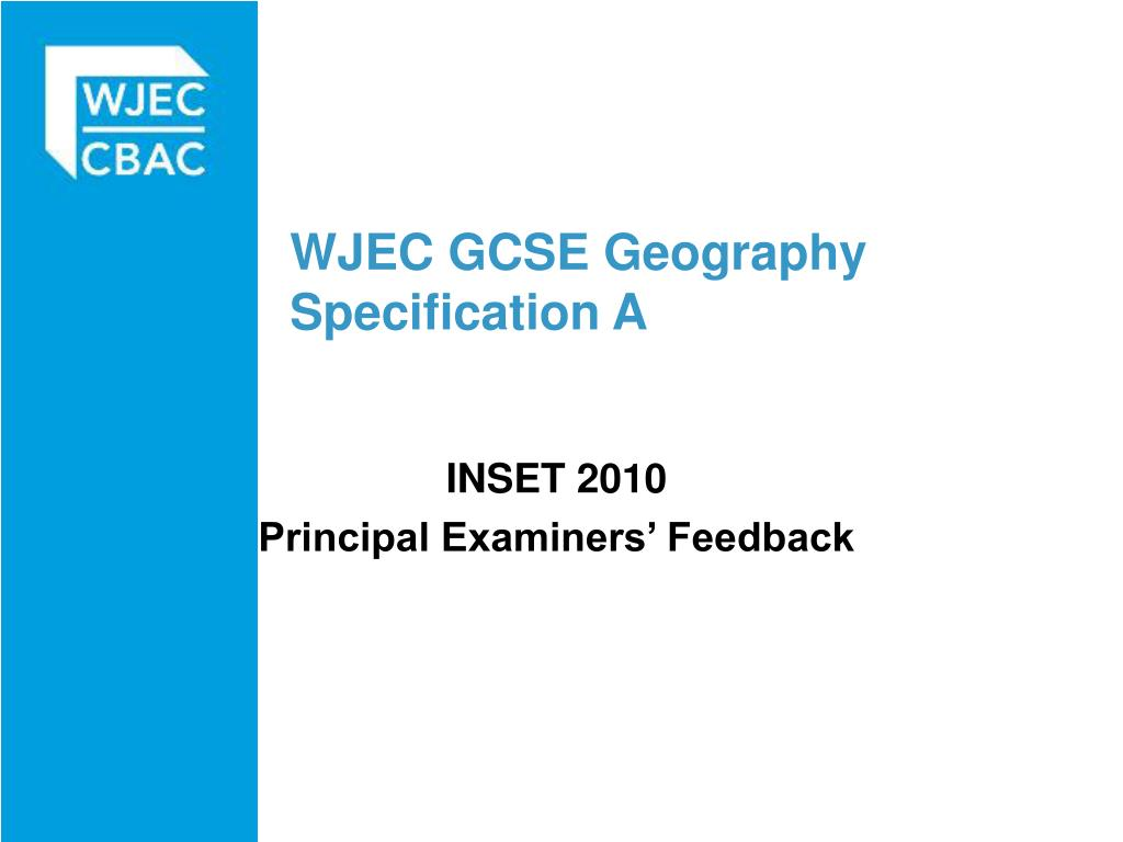 wjec gcse geography specification a l.