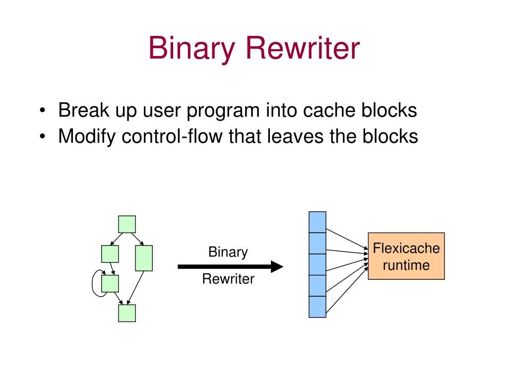 Binary Rewriter