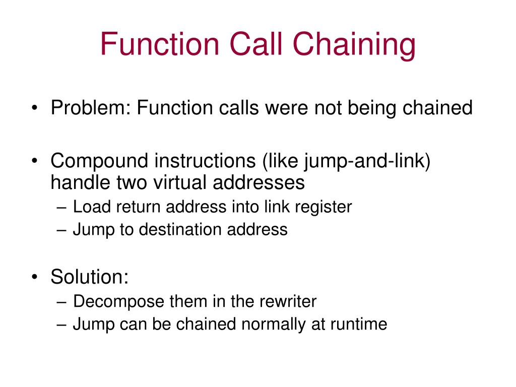 Function Call Chaining