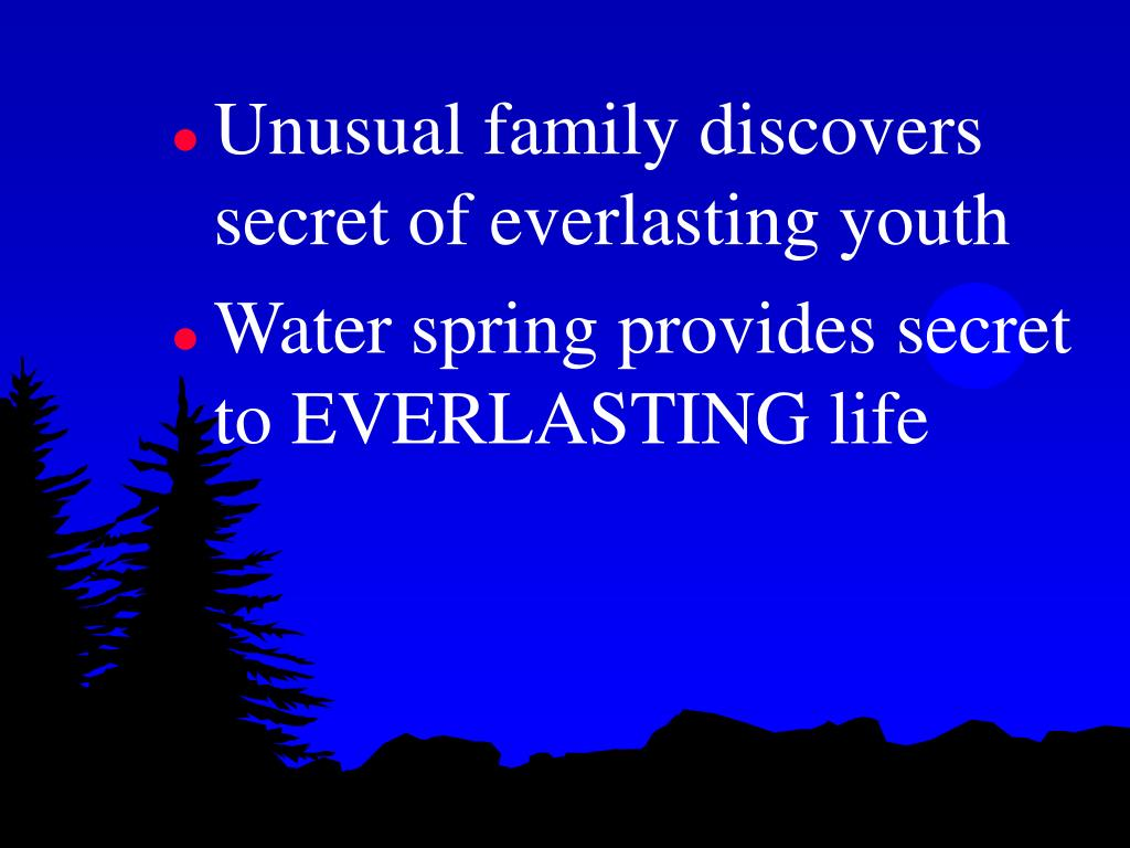 Unusual family discovers secret of everlasting youth