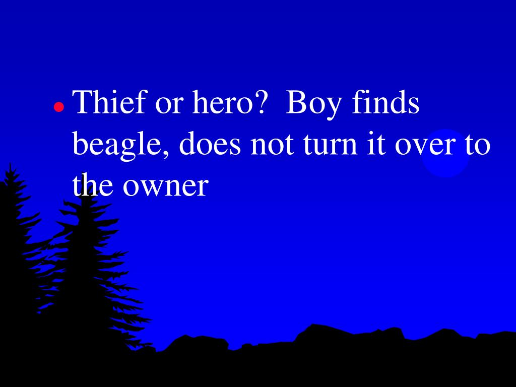 Thief or hero?  Boy finds beagle, does not turn it over to the owner