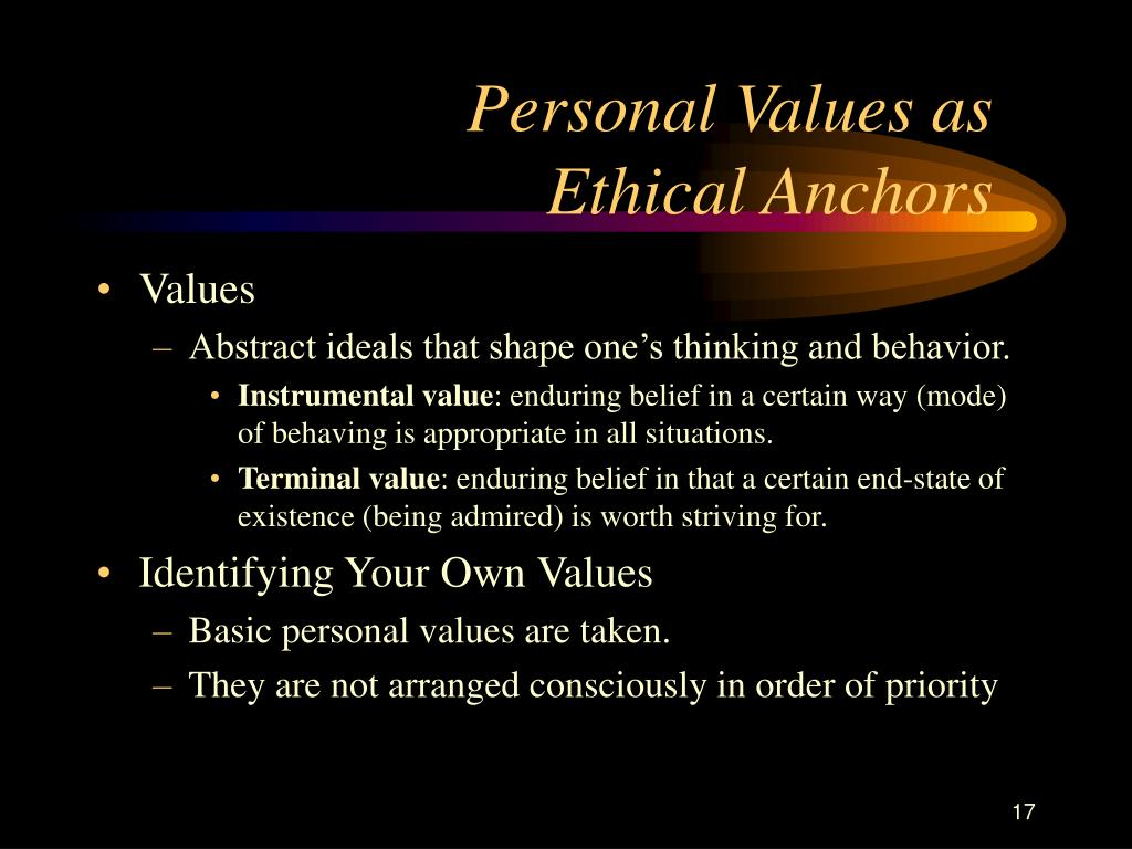Personal Values as