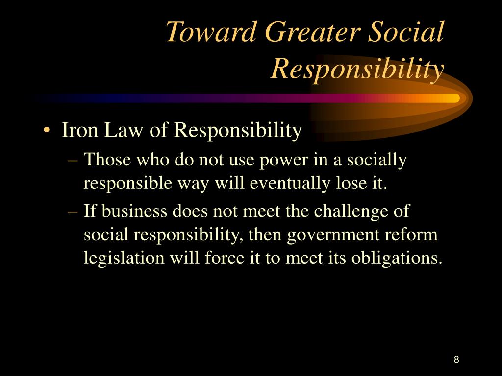 Toward Greater Social Responsibility