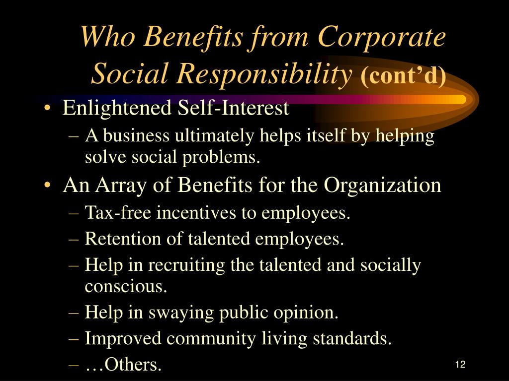 Who Benefits from Corporate