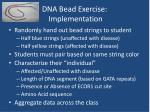 dna bead exercise implementation