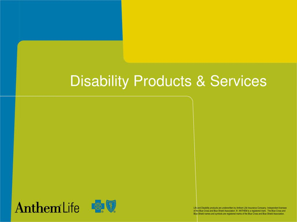 Disability Products & Services