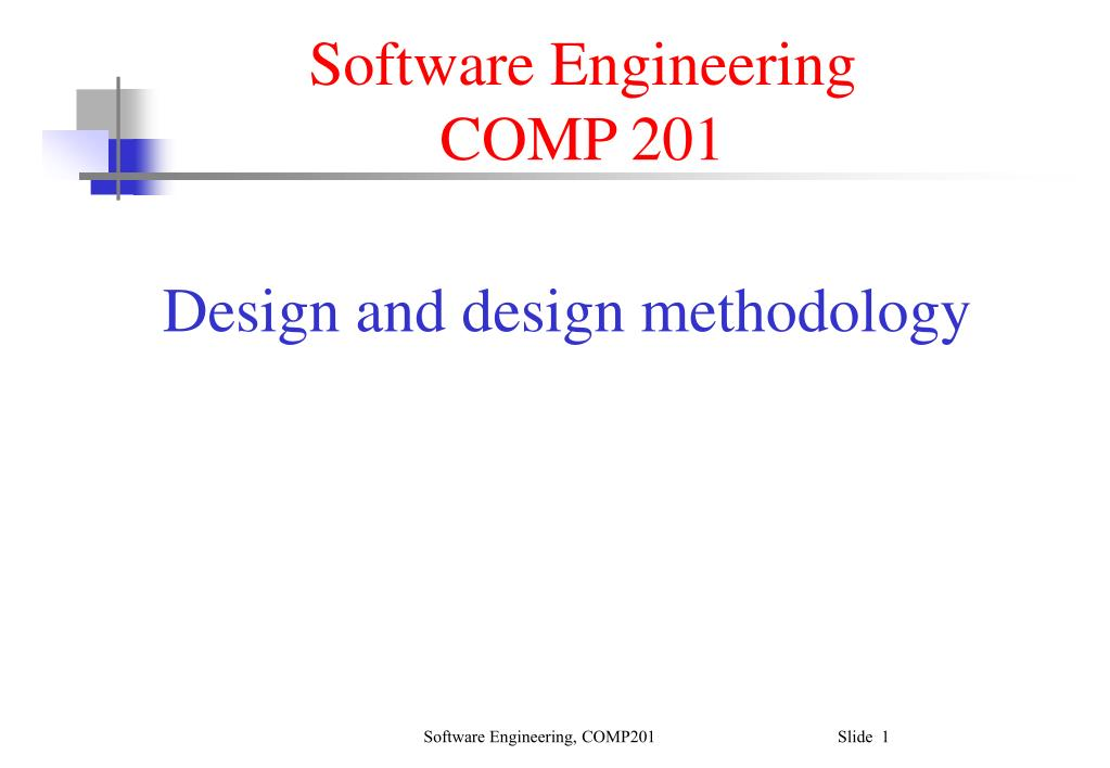 software engineering comp 201 l.