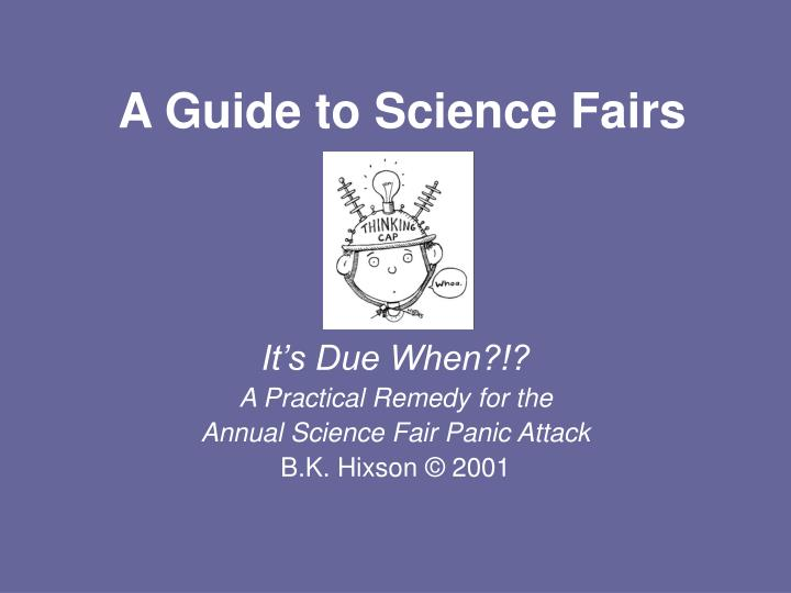 a guide to science fairs n.