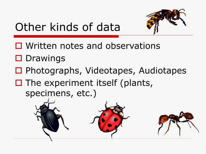 Other kinds of data