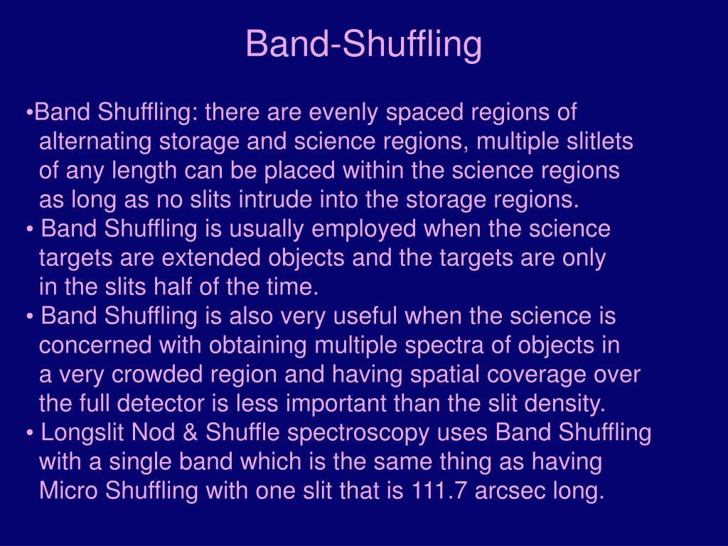 Band-Shuffling