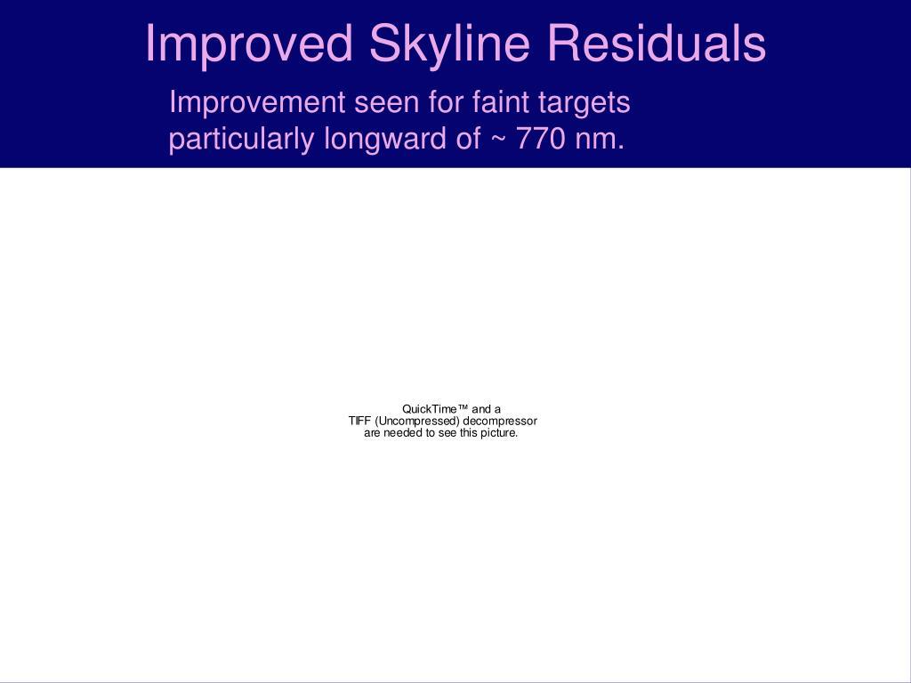 Improved Skyline Residuals