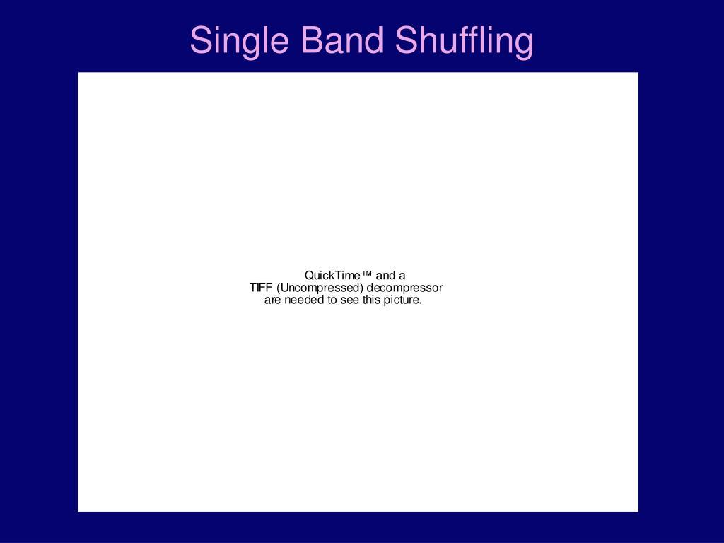 Single Band Shuffling