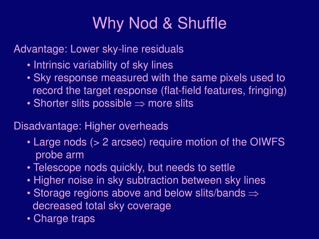 Why Nod & Shuffle