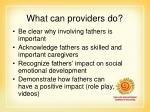 what can providers do