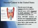 thyroid cancer in the united states
