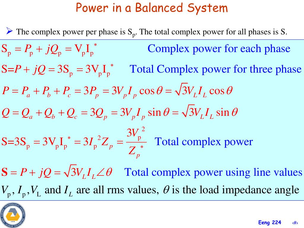 Power in a Balanced System