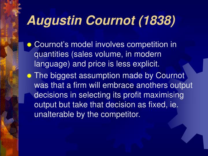 Augustin cournot 1838