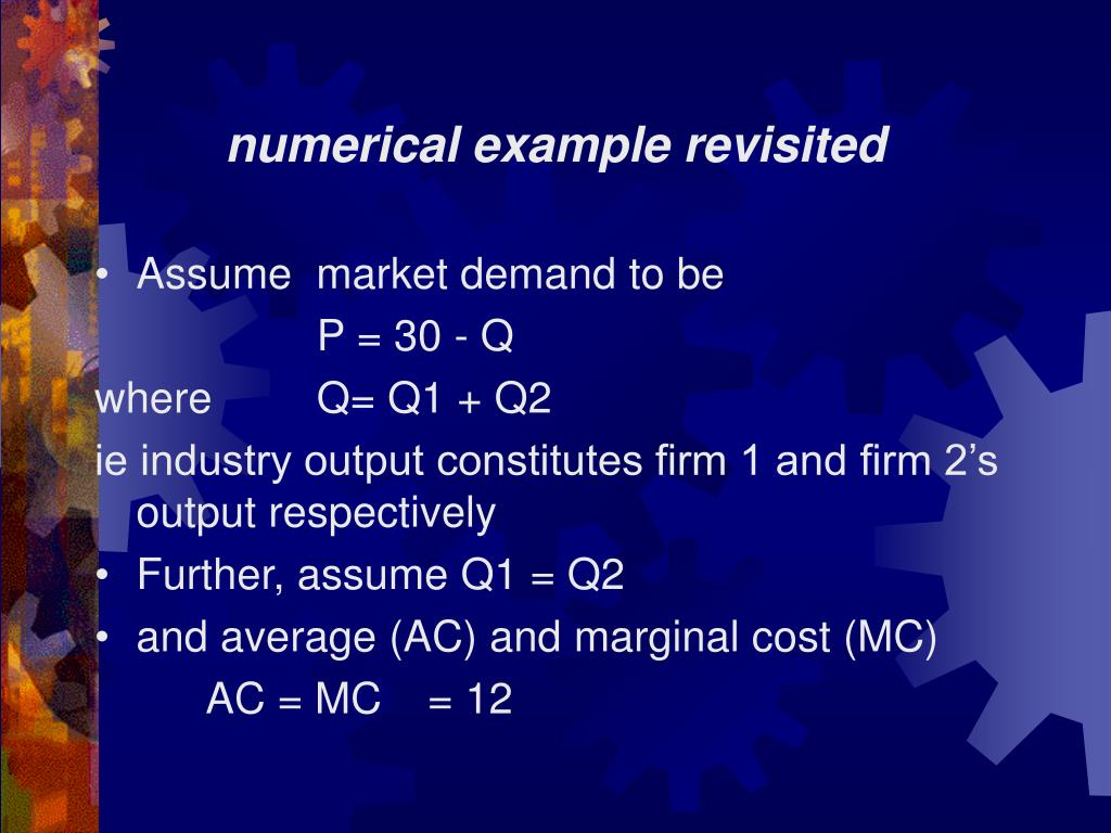 numerical example revisited