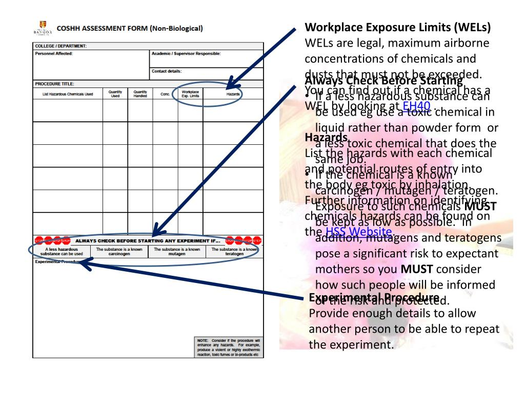 Workplace Exposure Limits (WELs)