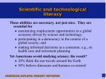 scientific and technological literacy1