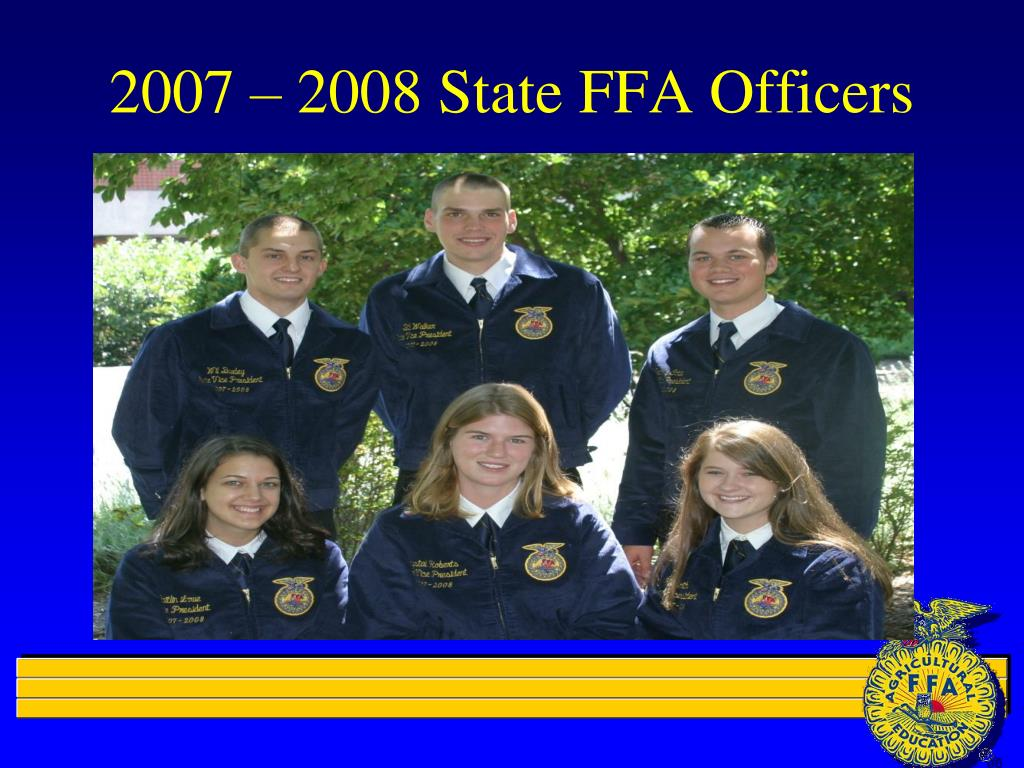 2007 – 2008 State FFA Officers