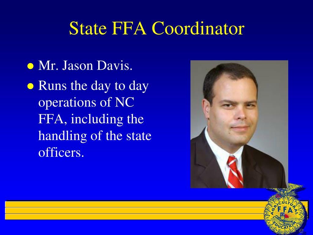 State FFA Coordinator