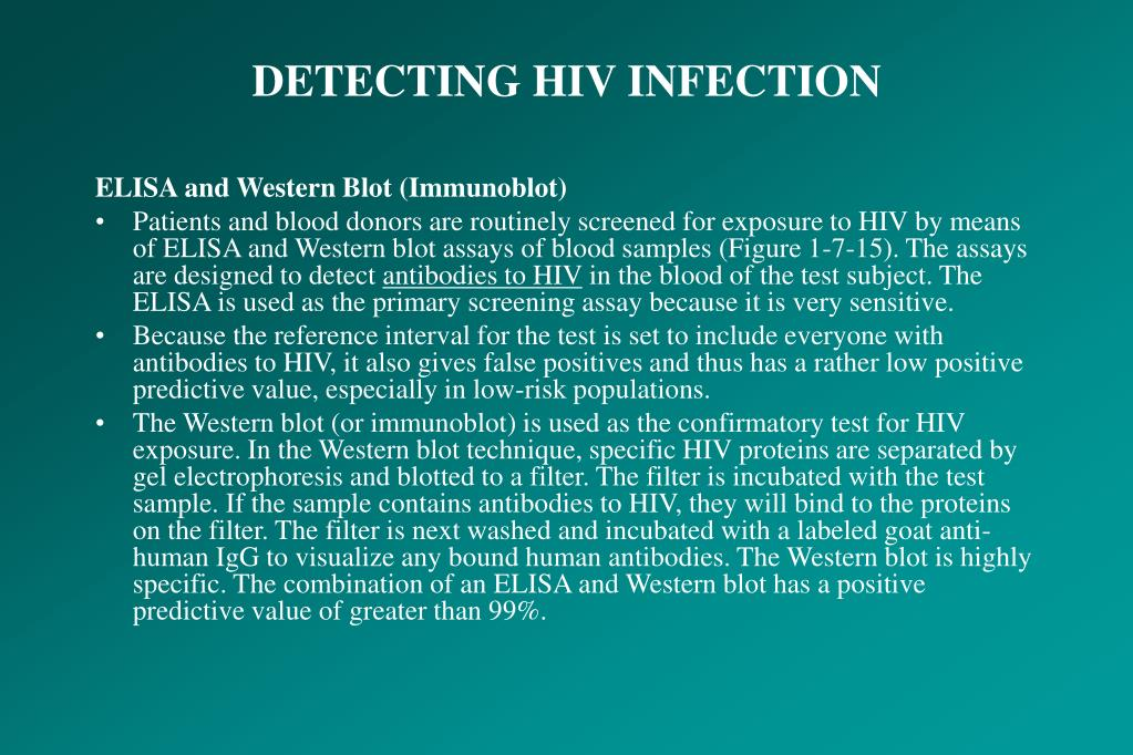 DETECTING HIV INFECTION