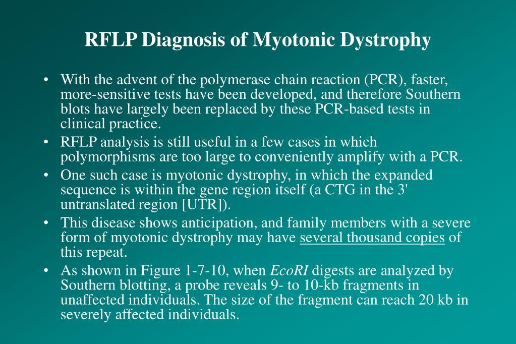RFLP Diagnosis of Myotonic Dystrophy