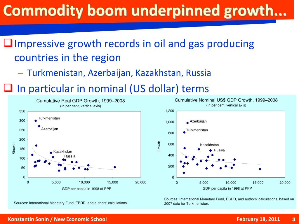 Commodity boom underpinned growth...